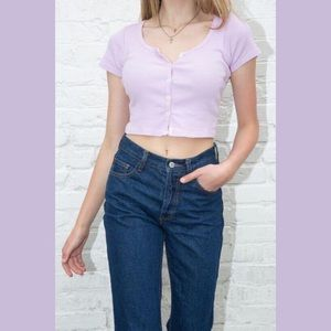 RARE BRANDY MELVILLE LILAC ZELLY TOP